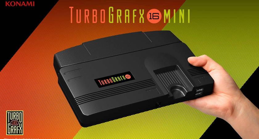 Konami представила мини-консоль TurboGrafx-16 Mini