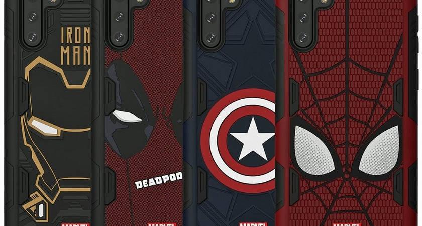 Представлены официальные чехлы для Galaxy Note 10 от Marvel