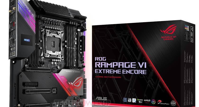 ASUS представили игровую материнскую плату ROG Rampage VI Extreme Encore