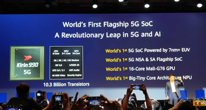 Huawei выпустили процессор  Kirin 990 5G: на базе 7-нм техпроцесса