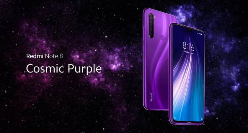 Redmi Note 8 получил еще одну расцветку Cosmic Purple
