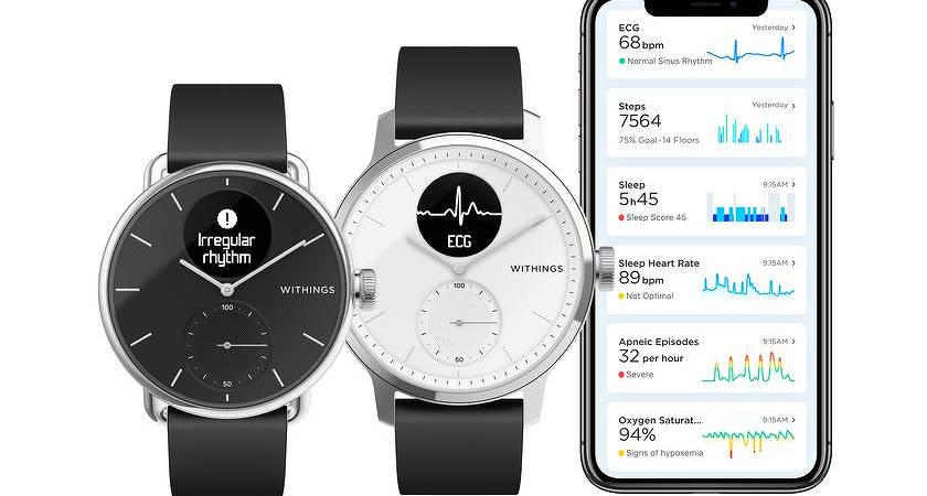 Withings ScanWatch: новые гибридные смарт-часы с ЭКГ