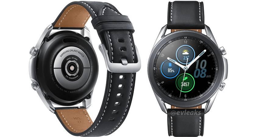 Samsung Galaxy Watch 3 появился на официальном рендере с кожаным ремешком