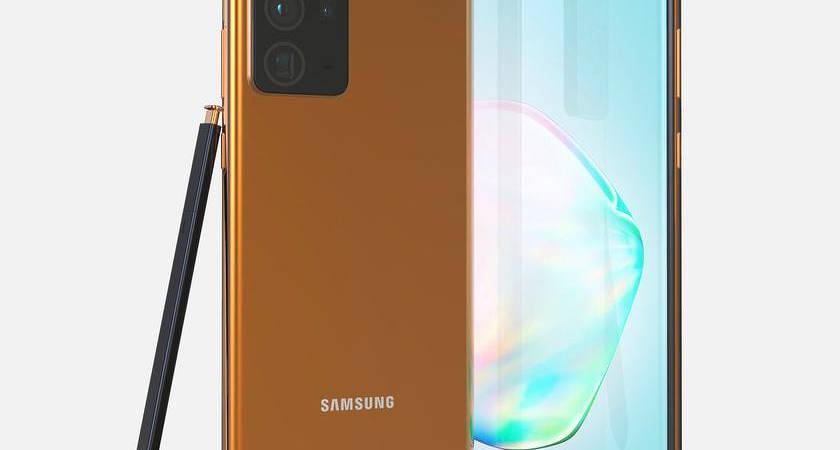 Samsung Galaxy Note 20 Ultra появился на рендерах в золотом корпусе