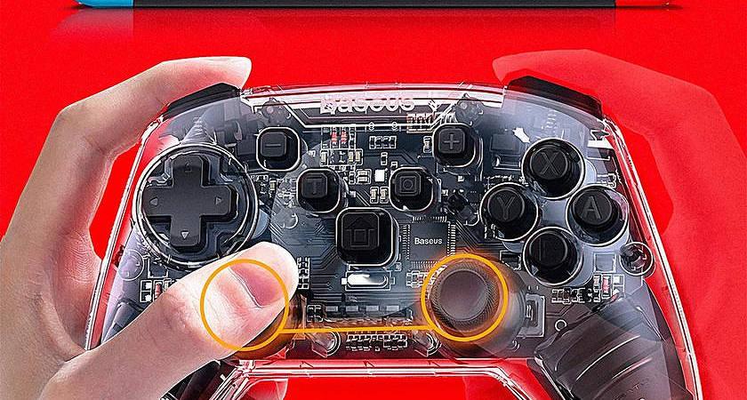 Baseus представили прозрачный контроллер для приставки Nintendo Switch