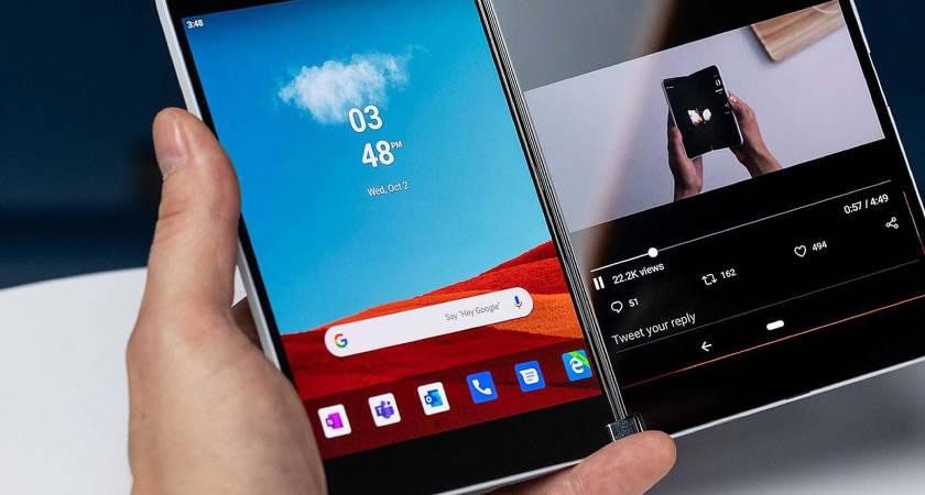 Microsoft Surface Duo – новый смартфон-книжка уже на рендерах