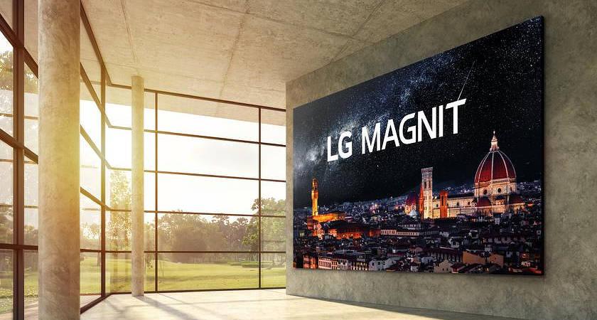 Компания LG представила новый 163-дюймовый экран серии Magnit с MicroLED