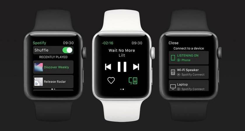Компания Spotify представила приложение для Apple Watch Series 3