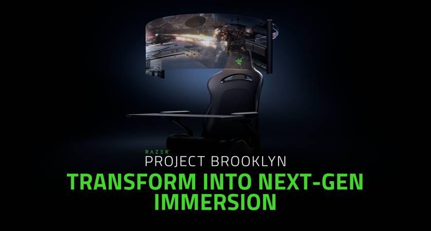 Компания Razer представила игровое кресло с гибким экраном на CES 2021