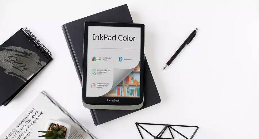 PocketBook InkPad Color – новый 7,8-дюймовый экран Kaleido