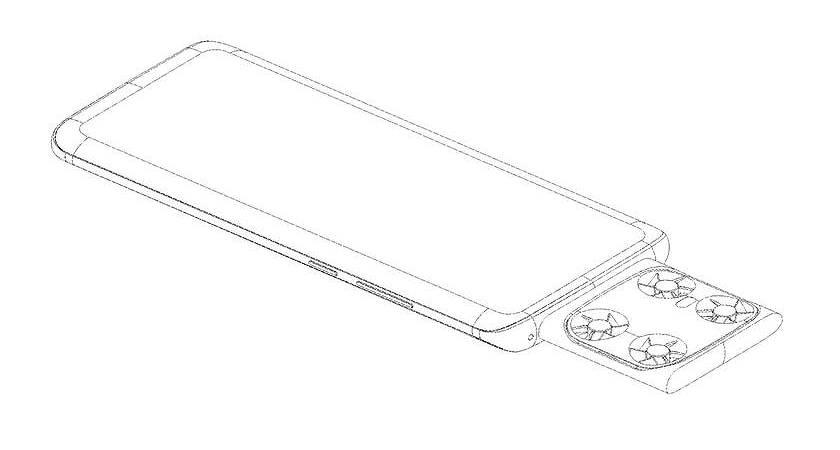 Vivo представили патент на смартфон с летающей камерой