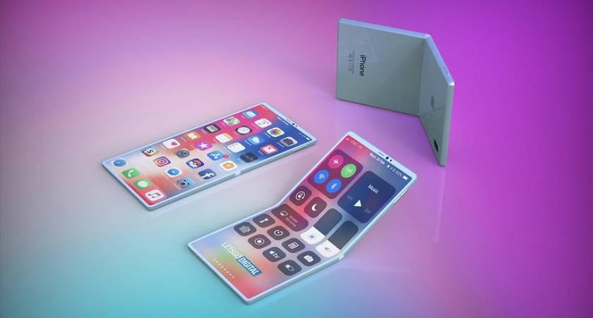 Складной iPhone – возможный рендер будущего гибкого смартфона