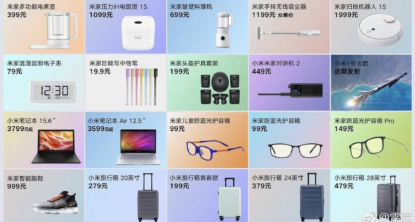 Компания Xiaomi представила 20 новых гаджетов