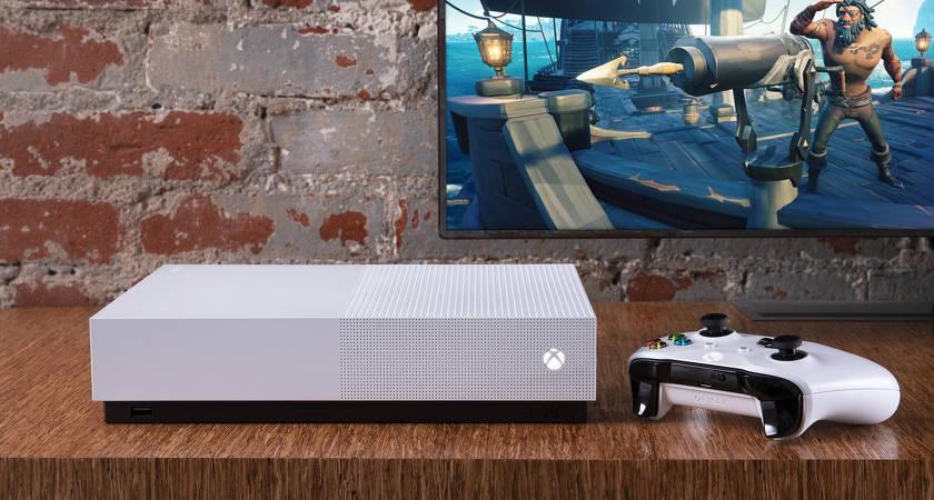 Microsoft представила новую игровую приставку Xbox One S All-Digital Edition