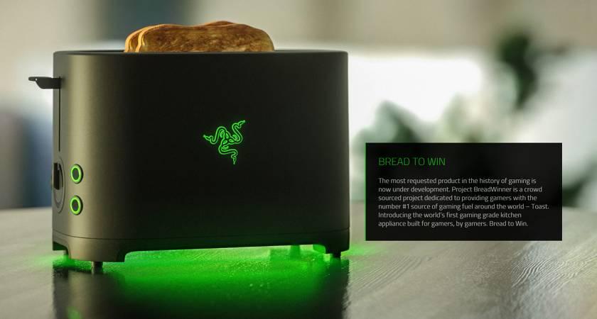 Компания Razer решила выпустить тостер для хлеба